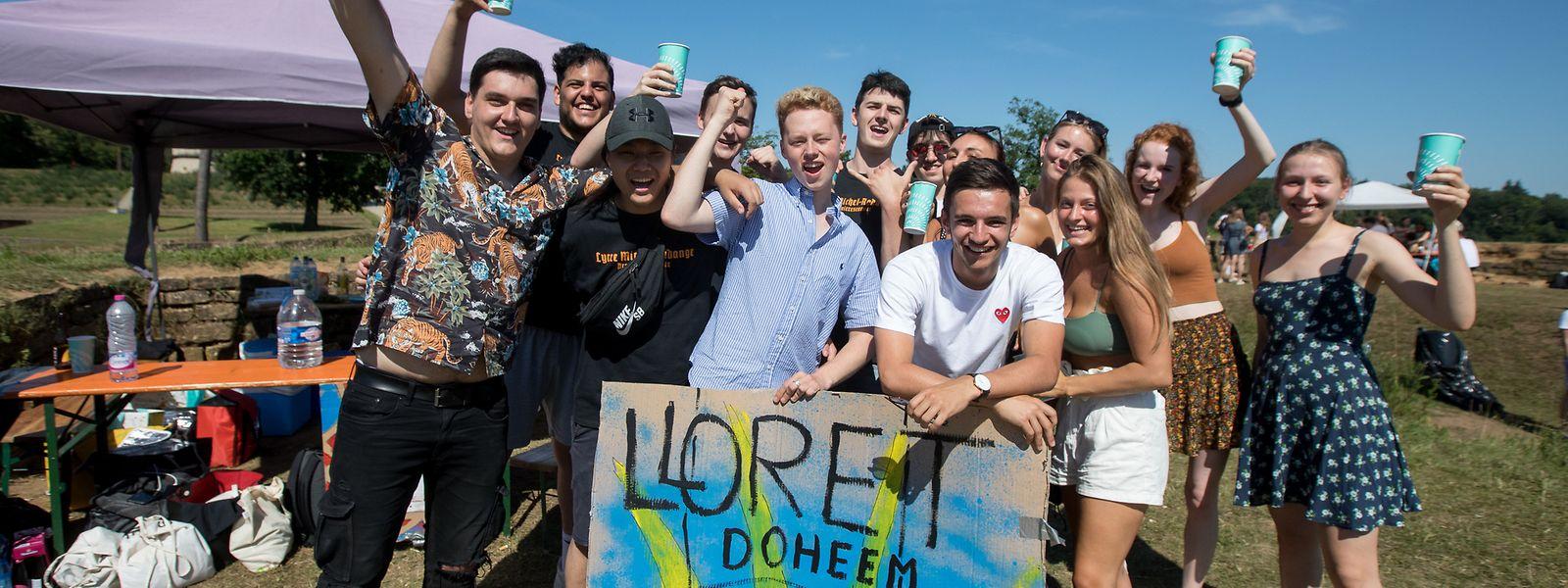 """Unter dem Motto """"Lloret Doheem"""" haben die Jugendlichen gefeiert."""