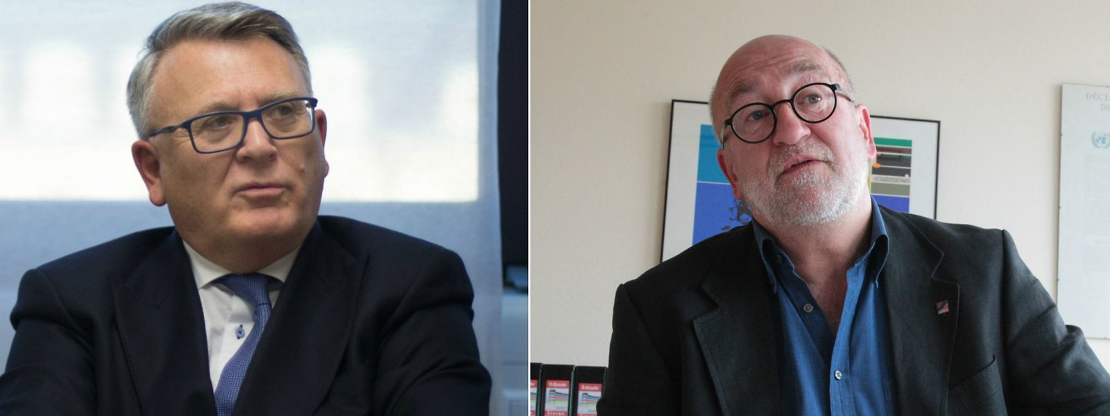 Sind sich nicht gerade grün im Moment: Nicolas Schmit (li) und André Roeltgen