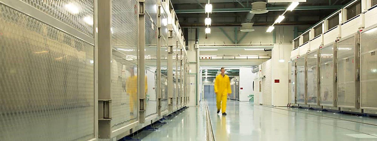Das Innere der unterirdischen Uran-Anreicherungsanlage Fordo (Fordow) in Qom.