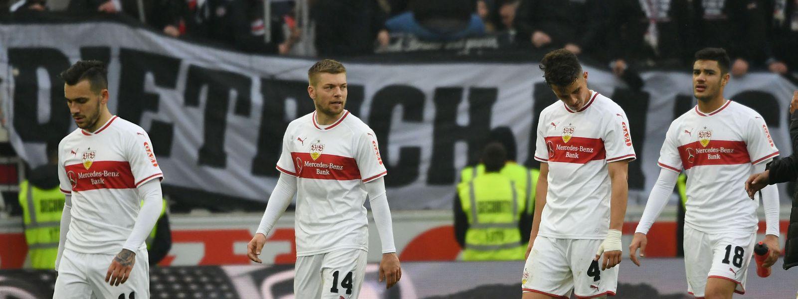 Die Stuttgarter Spieler finden keinen Weg aus der Krise.