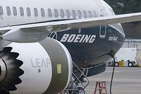 (FILES) In this file photo taken on March 22, 2019, a Boeing 737 MAX 9 test plane is pictured at Boeing Field in Seattle, Washington. - Under growing scrutiny from investors and regulators, embattled US aerospace giant Boeing will have a chance this week to reset the narrative as it aims to pivot from two deadly crashes that have grounded a top-selling plane.The company will report earnings on April 24, 2019 for the first time since a deadly March 10 plane crash plunged the company into crisis-mode. (Photo by STEPHEN BRASHEAR / GETTY IMAGES NORTH AMERICA / AFP)