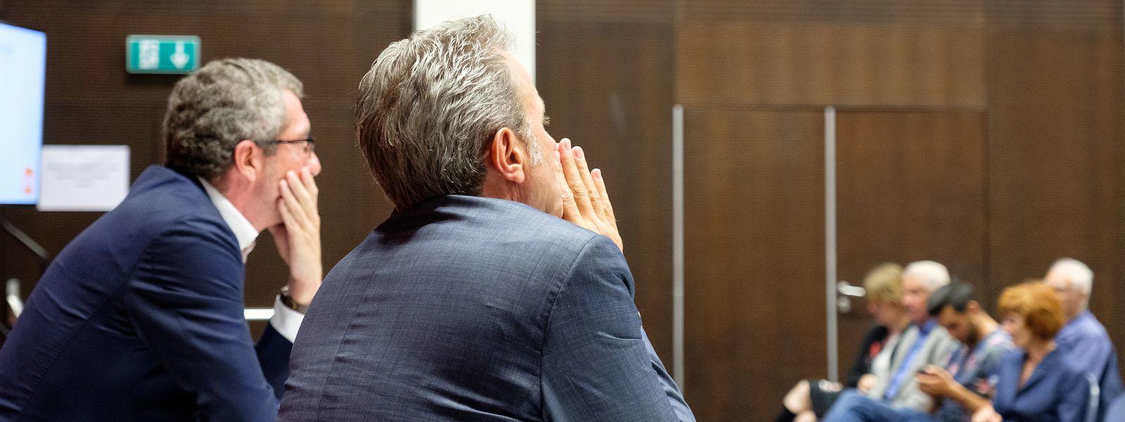 Parteipräsident Frank Engel und Generalsekretär Félix Eischen auf der Suche nach neuen Ideen.