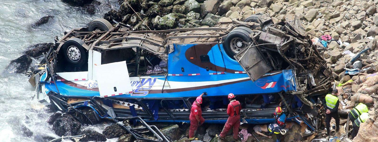 Der tödliche Unfall ereignete sich unweit der Hauptstadt Lima, entlang der Pazifikküste.
