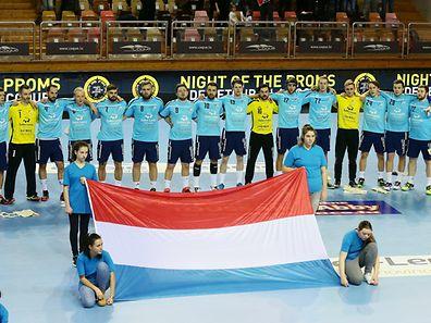 Breite Brust: Luxemburgs Handballer wollen auch gegen Italien gewinnen.