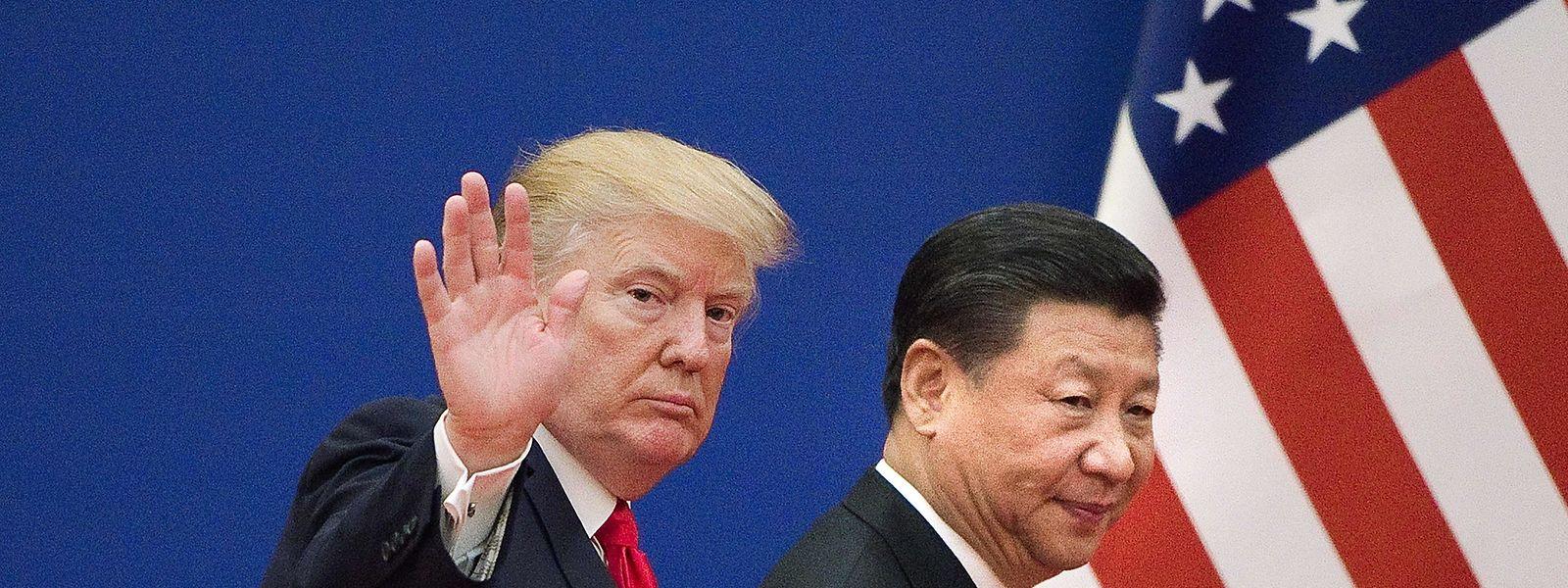 Partner und sogleich Handelsgegner: US-Präsident Donald Trump und China's Präsident Xi Jinping.