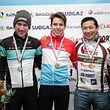 Podium Elite, Pit Schlechter (Leopard Pro Cycling / LC Tetange - 15), Scott Thiltges (LG Alzingen - 4), Gusty Bausch (Velosfrenn Gusty Baruch - 2)/ 07.01.2017 Radsport, Velo, Cyclo-Cross, Saison 2016/17 / 07.01.2017 /Nationale Meisterschaften, Cyclo Cross Championnat 2016/17 / Remerschen /Foto: Ben Majerus