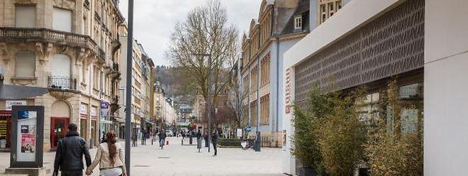 Betroffen ist der obere Teil der Rue du Brill, der auch heute schon Fußgängerzone ist.