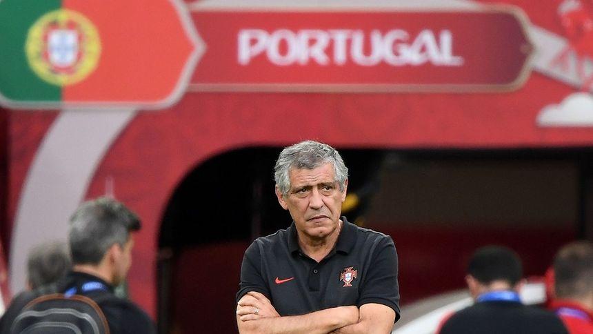 O selecionador português Fernando Santos