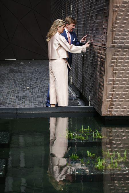 Auch Königin Máxima zeigte sich bei ihrem Besuch im Mai in Belval von der Maison des Arts beeindruckt.