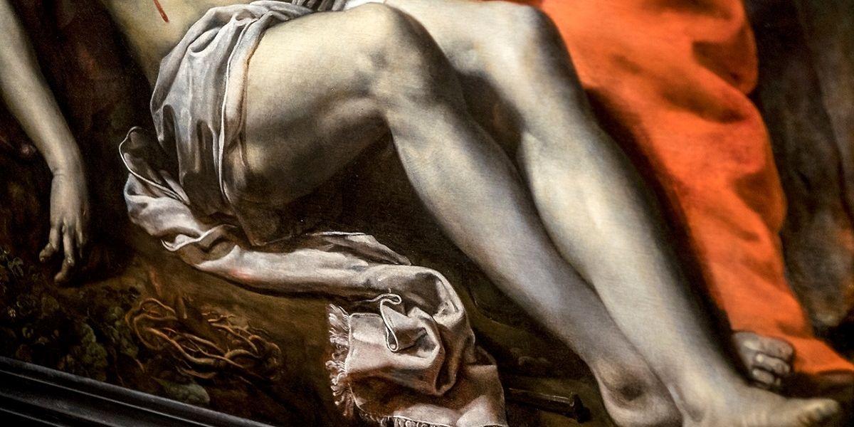 Detalhe da tela de Theodore van Loon