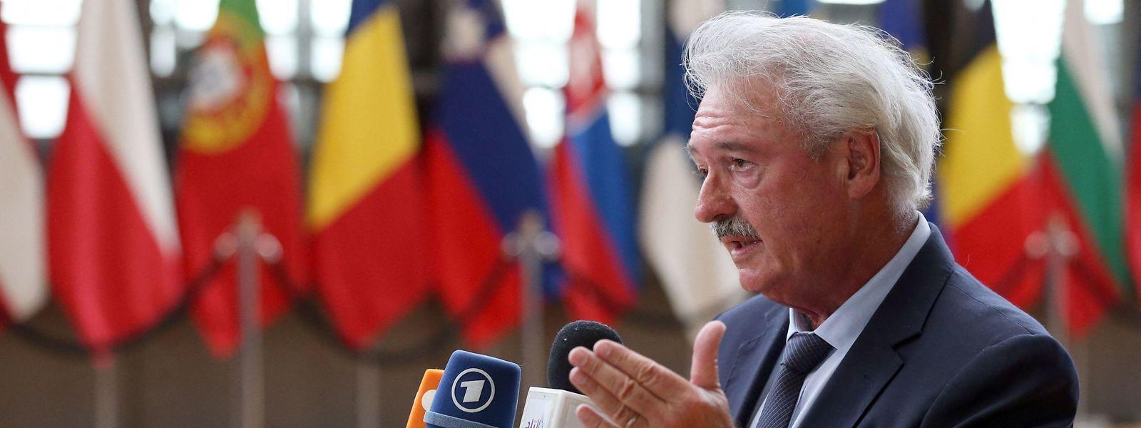Jean Asselborn vor dem Gipfel beim Pressegespräch.