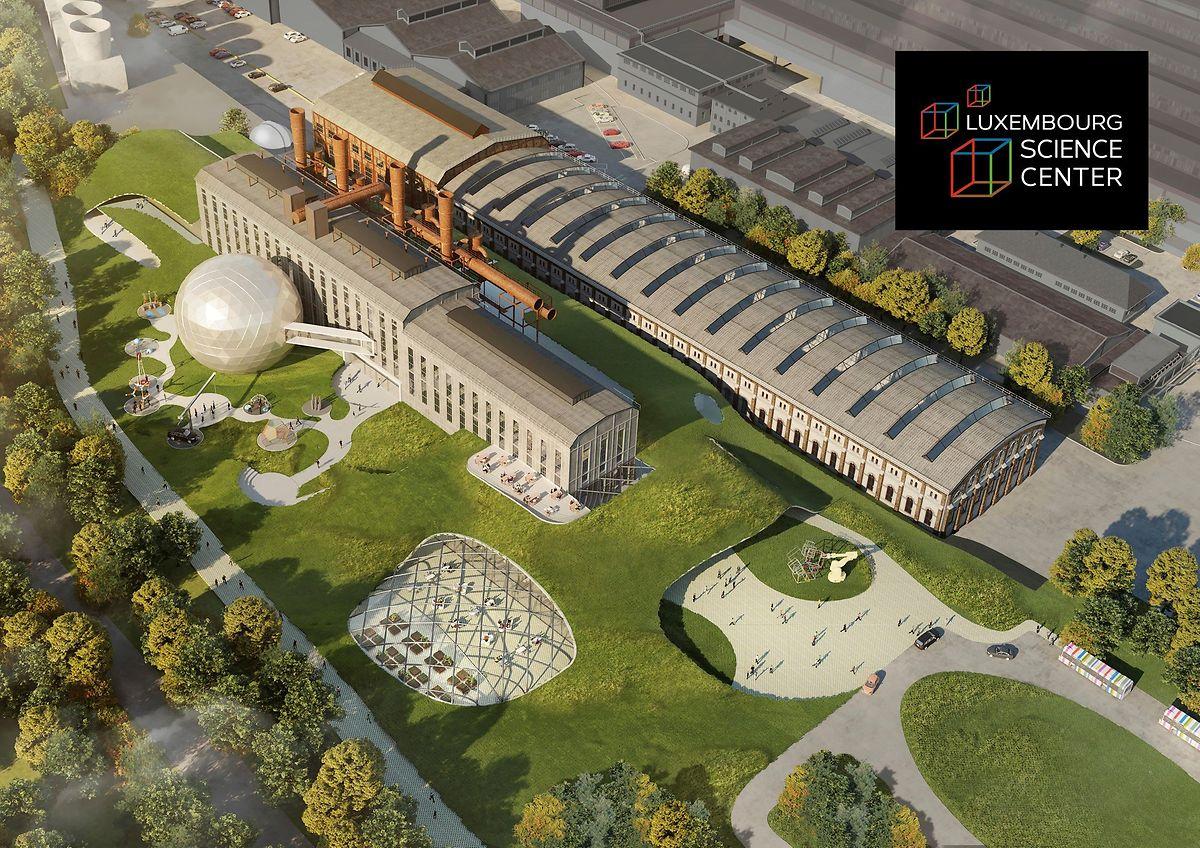 So stellen sich die Verantwortlichen des Science Center die Zukunft des Besucherzentrums vor.
