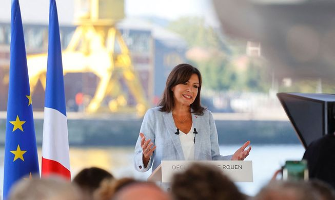 The mayor of Paris, Anne Hidalgo, announced she will stand as a candidate in next year's presidential election during a speech in Rouen, western France, on Sunday