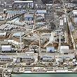 Die vom Tsunami zerstörte Nuklearanlage Fukushimas Daiichi heute.