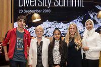 20.9.Wi / KPMG Diversity Summet / vlnr Leo Sharma , Colette Flesch , Avanti Sharma , Caroline Mohr , Kholoud Mousa Foto:Guy Jallay