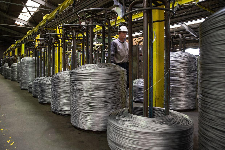 Wirtschaft, Neujahrsempfang bei Arcelor Mittal in Bissen, Betriebsbesichtigung, Produktion,Visite guidée. Foto: Gerry Huberty/Luxemburger Wort