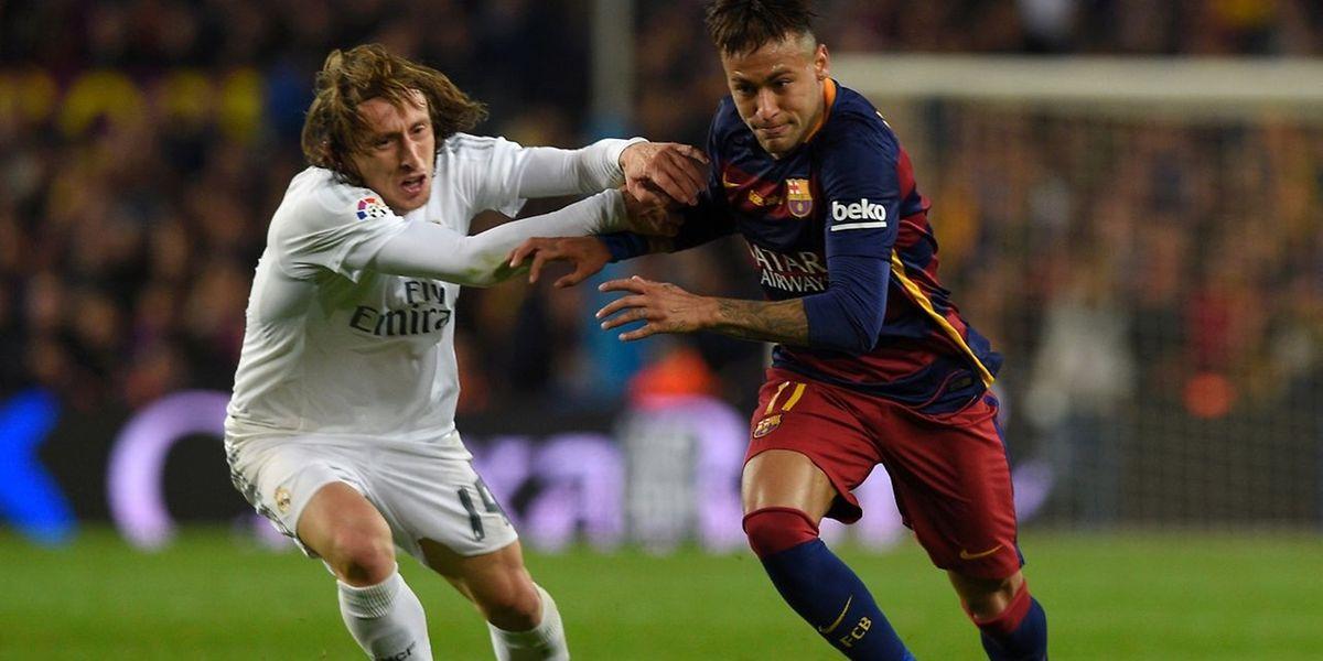 Si Luka Modric et le Real affronteront les Allemands de Wolfsburg, c'est un autre clasico qui attend le Barça de Neymar contre l'Atletico Madrid.