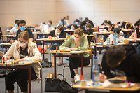 Lokales,Start Premiersexamen- Lycée Robert Schumann.. Foto: Gerry Huberty/Luxemburger Wort