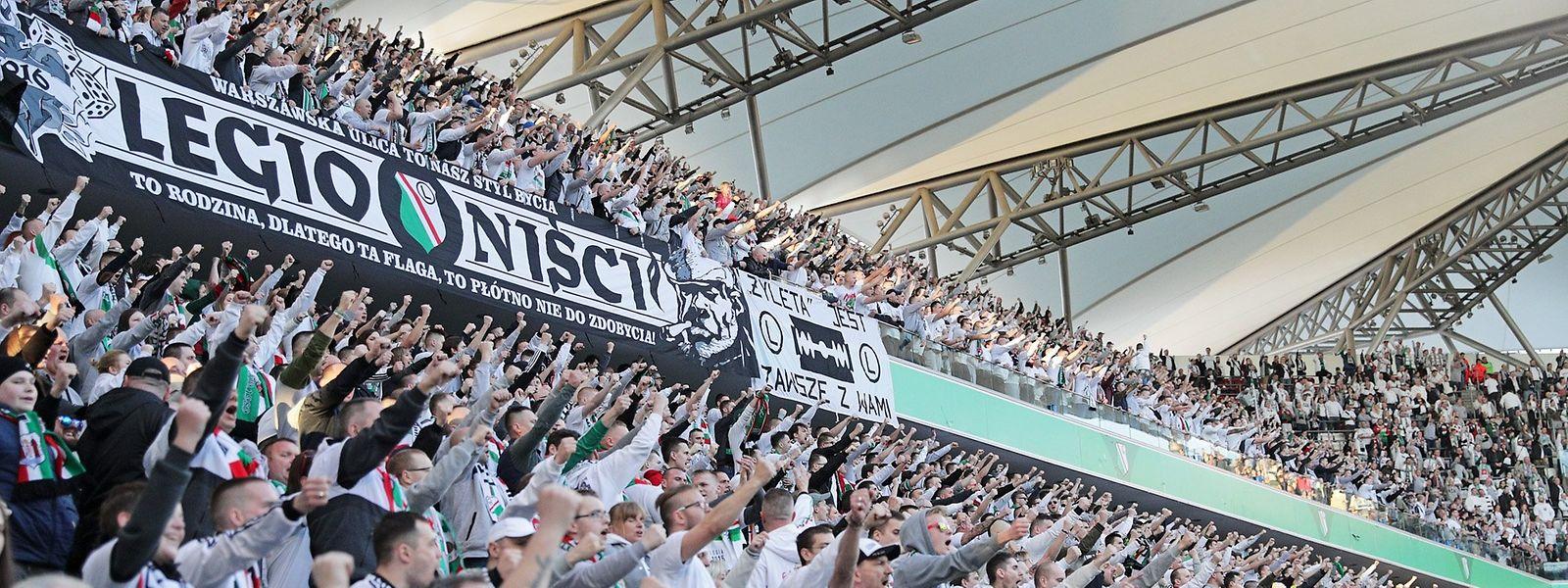 Les supporters du Legia ont retrouvé le sourire.