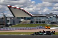 Mercedes' British driver Lewis Hamilton drives during the Formula One British Grand Prix at the Silverstone motor racing circuit in Silverstone, central England on August 2, 2020. (Photo by Ben STANSALL / POOL / AFP)