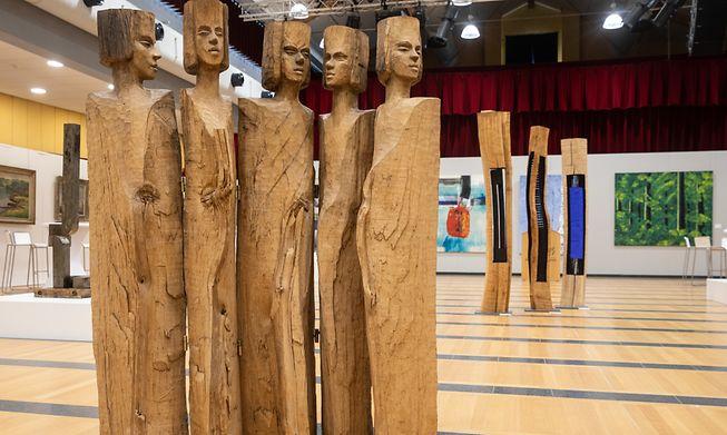 """Sculpture """"Closed Society"""" from Marie-Josée Kerschen."""
