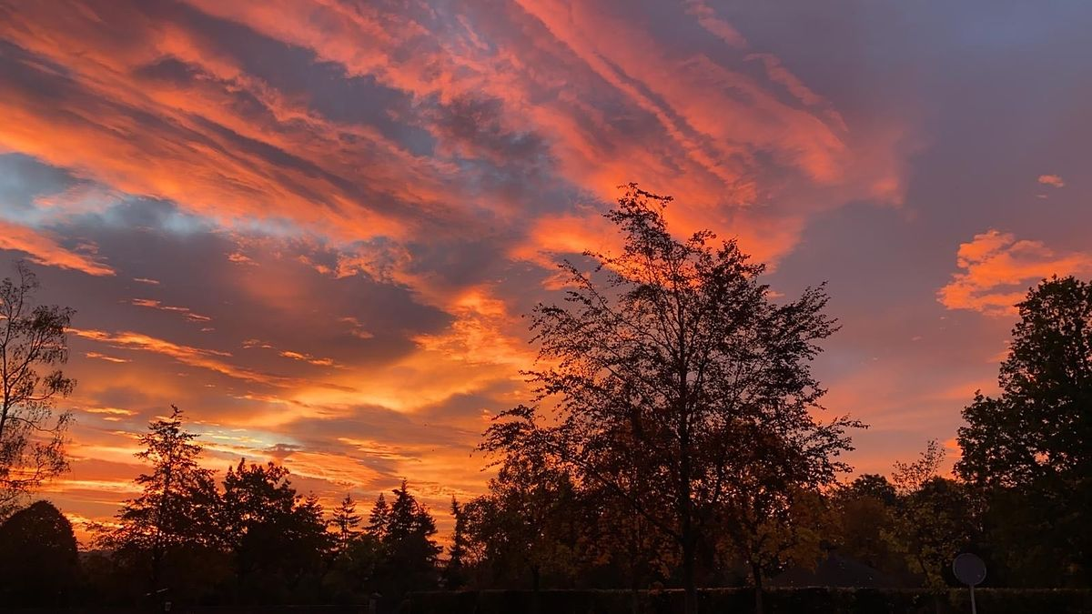 Der Sonnenaufgang über Reuler im Ösling.