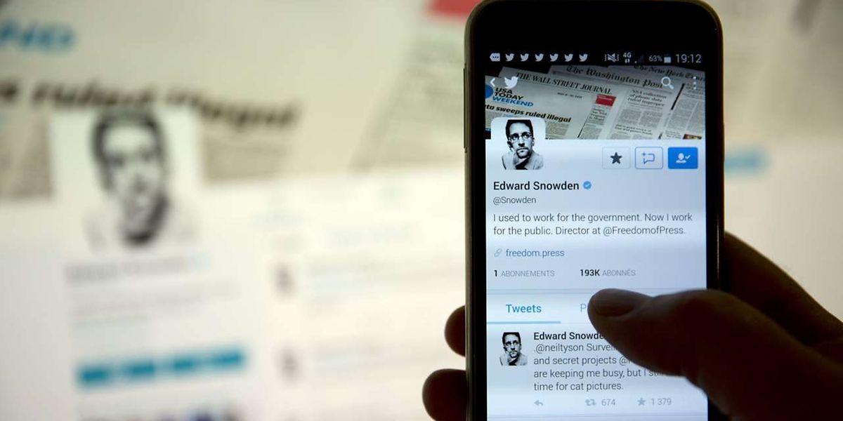 Der neue Twitter-Account von Edward Snowden.