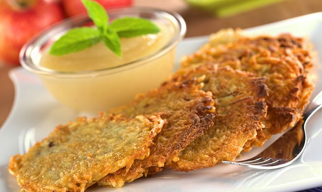 Gromperekichelcher consists of just potatoes, eggs, flour, onion and parsley and is easy to make at home.