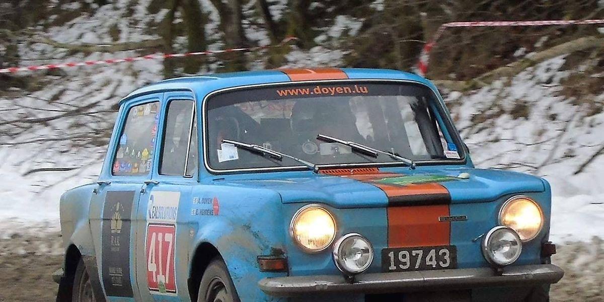 """La Simca 1000 d'Etienne Heirens et Armand Doijen s'est classée 70e de la catégorie """"Classic"""""""