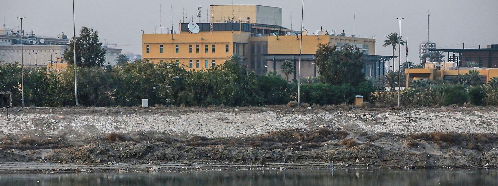 Die US-Botschaft in Bagdad.