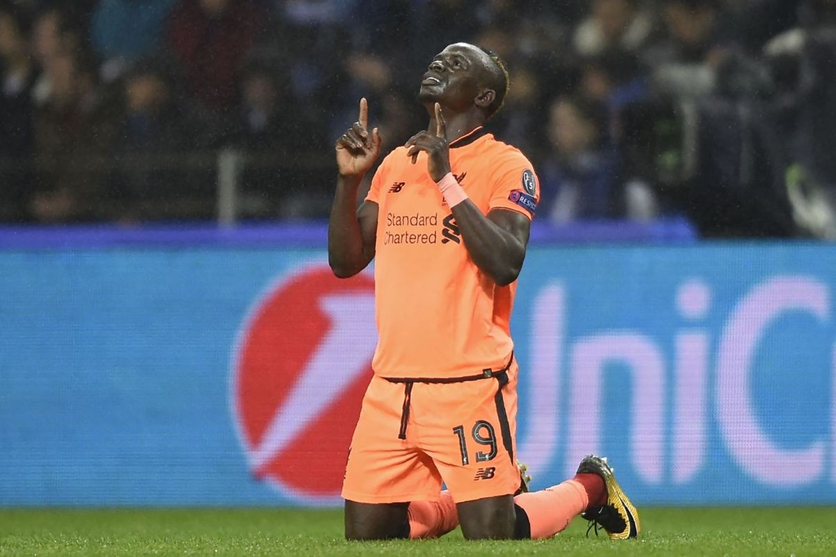 L'attaquant sénégalais de Liverpool, Sadio Mané, auteur d'un triplé à l'Estadio do Dragao