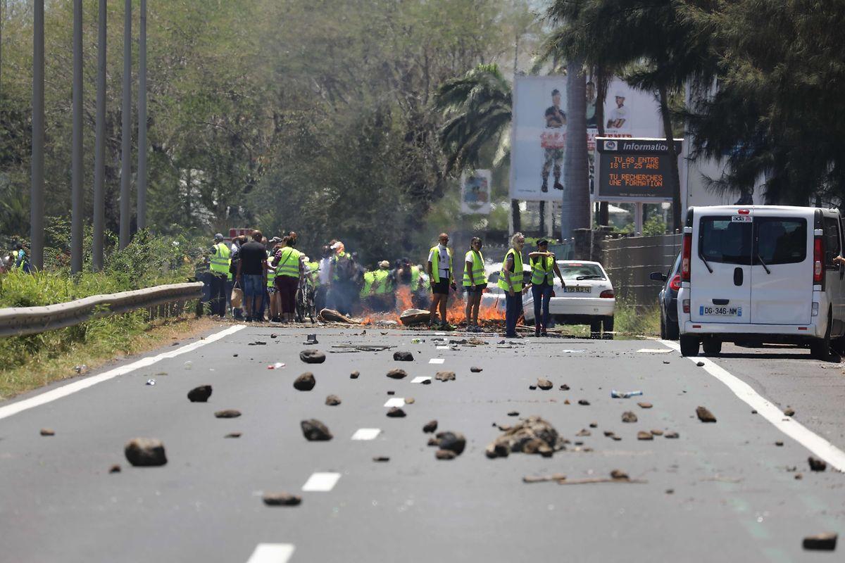 Auch in Saint-Denis de la Réunion wird demonstriert.
