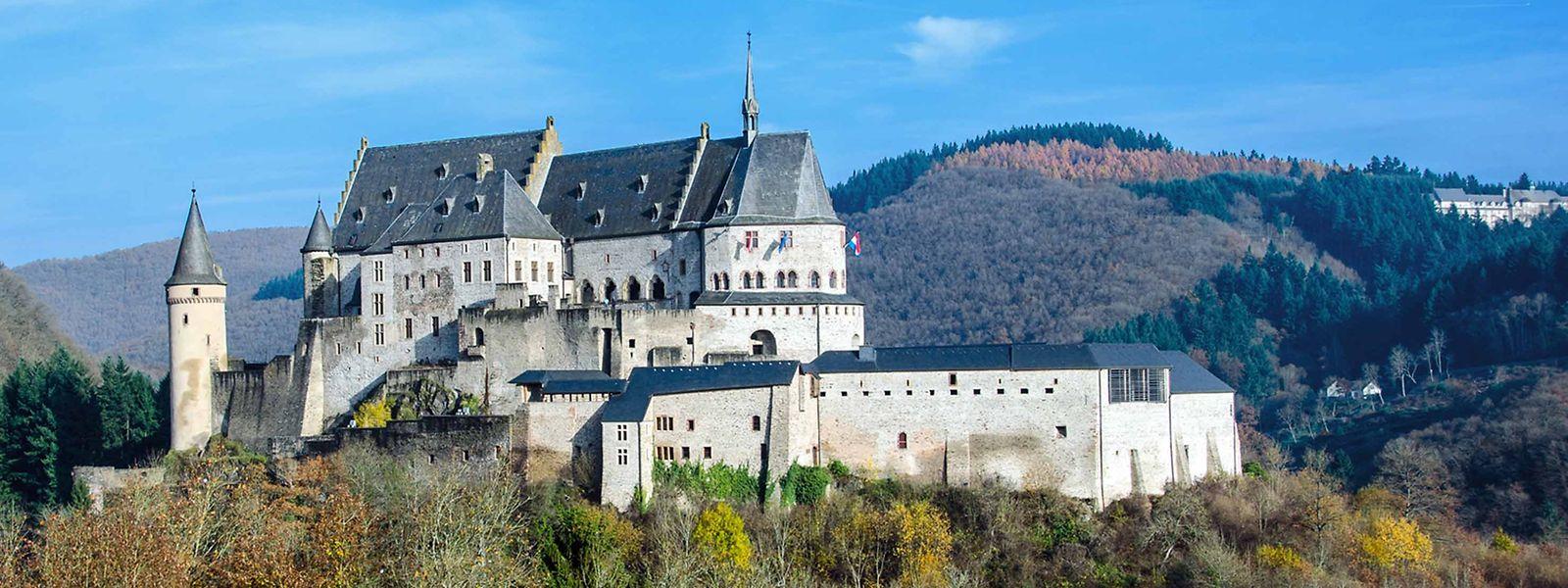Das Schloss Vianden im Norden Luxemburgs.