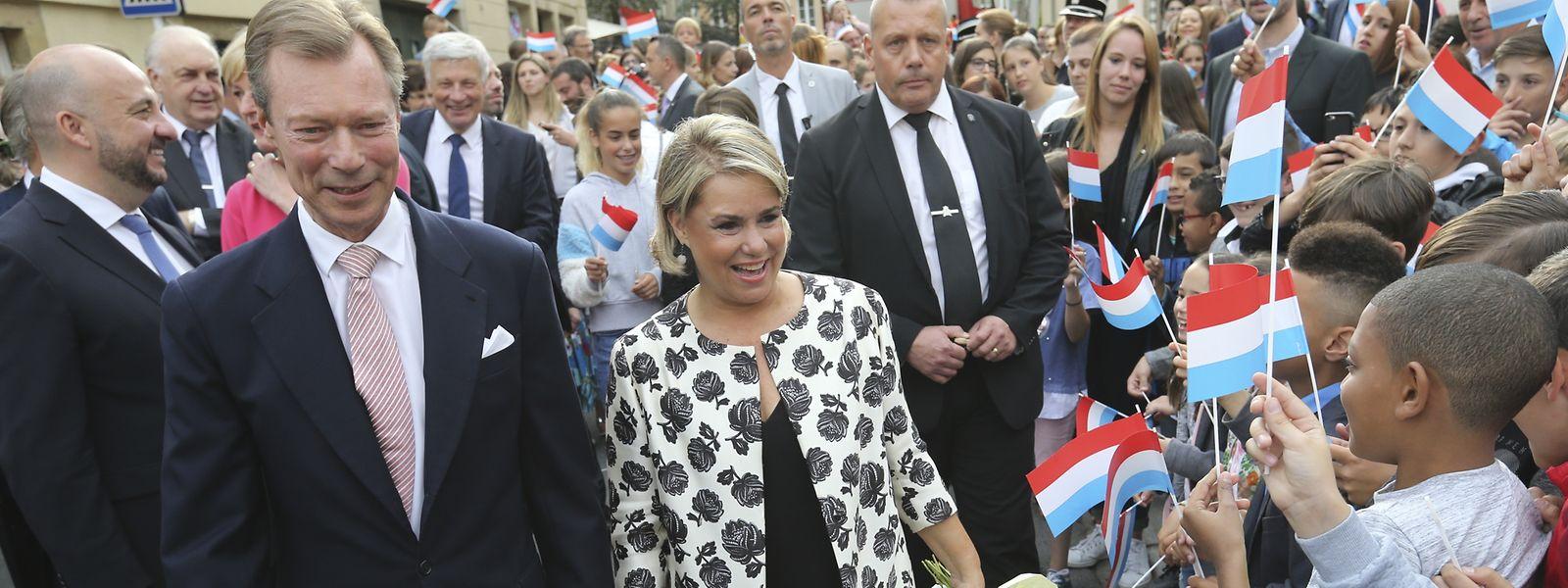 Das großherzogliche Paar wurde in Fels mit viel Freude empfangen.