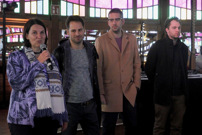"""A produtora de """"Eldorado"""", Anne Schroeder (Samsa Film) e os três realizadores do filme, Rui Eduardo Abreu, Thierry Besseling e Loïc Tanson"""