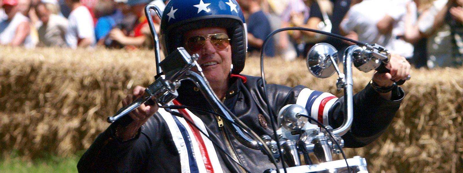 """1969 wurde Peter Fonda als Motorradfreak """"Captain America"""" in dem Kult-Streifen """"Easy Rider"""" zum Idol der Hippie-Bewegung"""