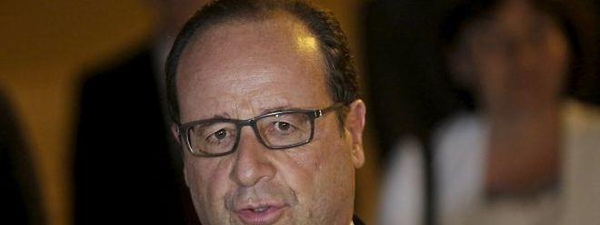Le président français François Hollande lors de son arrivée à La Havane