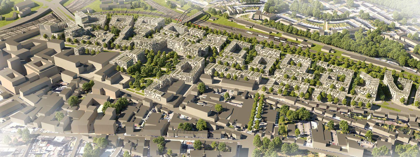 Le vaste projet sur le site de 18 hectares des sociétés Paul Wurth et Heintz van Landewyck créera des logements pour 4.000 personnes du côté de Hollerich. C'est l'un des grands projets sur lesquels mise la Ville pour tenter d'atténuer la pression liée au logement.