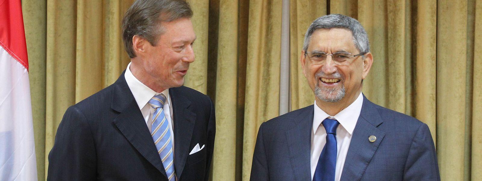 Jorge Carlos Fonseca recebeu o Grão-Duque Henri em 2015, em Cabo Verde. Em maio de 2019, será a vez de o soberano receber o Presidente cabo-verdiano.