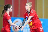 Jill Zeimetz (Luxemburg - 4) - Tina Welter (Luxemburg - 93) / Handball, Qualifikation zur Handball-Weltmeisterschaft 2021 der Frauen / 19.03.2021/ Israel - Luxemburg / Centre National Sportif et Culturel d'Coque - Gymnase / Foto: Yann Hellers