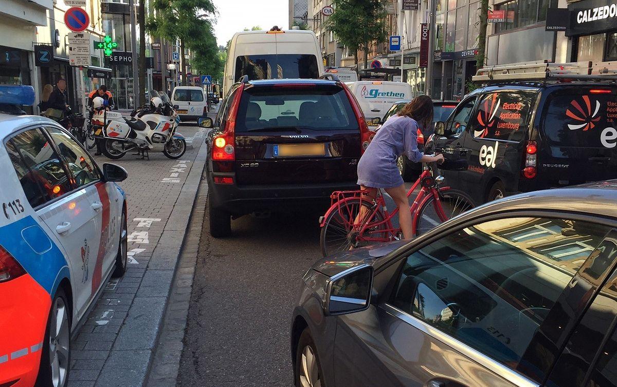 L'avenue de la Gare est inadaptée pour les cyclistes