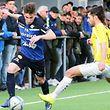 Diogo Rocha (l.) und US Esch hatten einen schweren Stand gegen F91 um Joël Pedro.