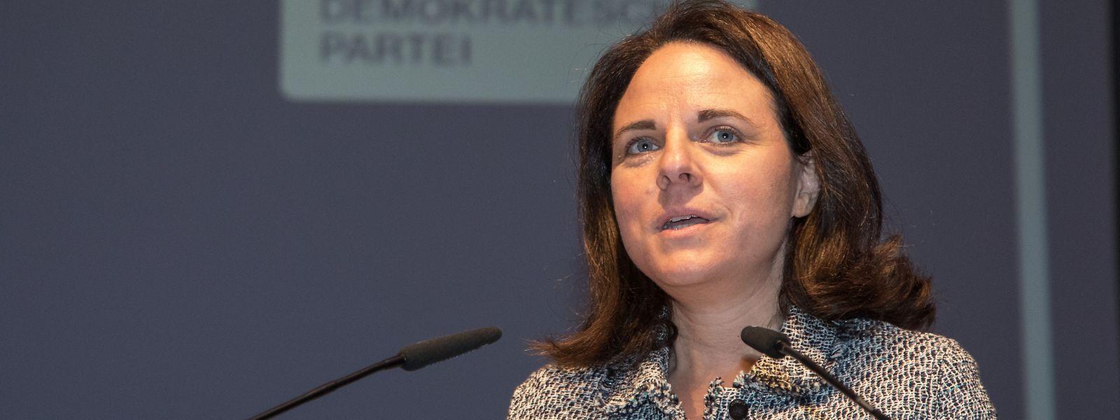 Corinne Cahen im Centre Culturel Walferdingen.