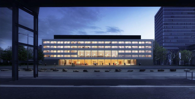 La future façade du site de Belval.