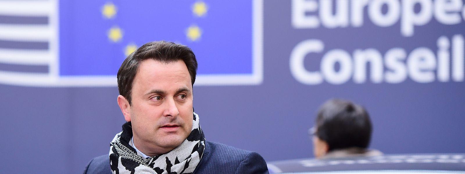 Bei seiner Ankunft in  Brüssel zeigte Bettel sich kämpferisch.