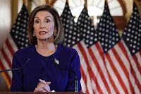 Die Vorsitzende des US-Repräsentantenhauses, Nancy Pelosi (D), kündigte den Schritt am Dienstagabend an.