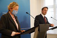Politik, Paulette Lenert und Xavier Bettel, PK Covid  Foto: Anouk Antony/Luxemburger Wort