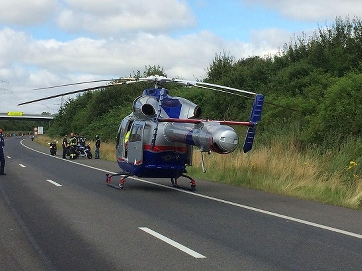 Die LAR hatte den Notarzt zum Unfallort geflogen.