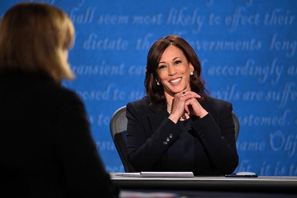 Herausforderin Kamala Harris lächelte während der Debatte viel, gab sich aber dennoch angriffslustiger als Amtsinhaber Pence.