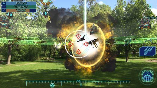 """Auch """"Clandestine: Anomaly"""" bringt eine Science-Fiction-Story in unsere reale Welt. Die zu bekämpfenden Aliens werden auf dem Bildschirm in die Umgebung des Spielers eingeblendet."""